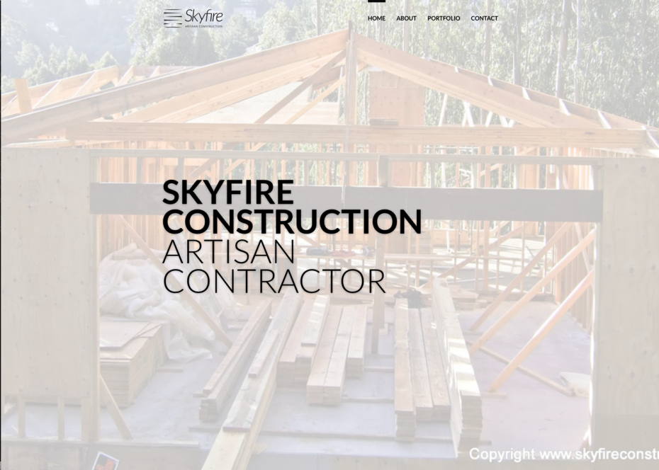 Skyfire Construction Website